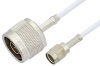 Reverse Polarity SMA Male to N Male Cable 72 Inch Length Using RG188 Coax, RoHS -- PE35225LF-72 -Image