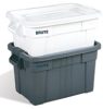 "White 14 Gallon Rubbermaid® Brute® Tote w/Lid 27-7/8""L x 17-3/8""W x 10-11/16""H -- 56968"