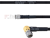 SMA Male to RA SMA Male MIL-DTL-17 Cable M17/84-RG223 Coax in 60 Inch -- FMHR0052-60 -Image