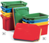 SCHAEFER Stack/Nest Totes and Lids -- 4455818
