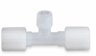 Flare compression male branch adapter, 3/8