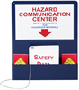 Deluxe Hazard Communication Center Wall Mount w/ Pocket, 4.125