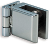 Glass Door Hinge, Stainless Steel, Non-Bore Inset -- 658095