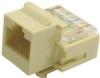 RJ45 Cat3 Keystone Modular Jack, Tool-less -- 42-005