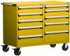 Heavy-Duty Mobile Cabinet, with Partitions -- R5DHG-3807 -Image