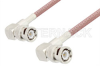 BNC Male Right Angle to BNC Male Right Angle Cable 24 Inch Length Using RG142 Coax, RoHS -- PE3044LF-24 -Image